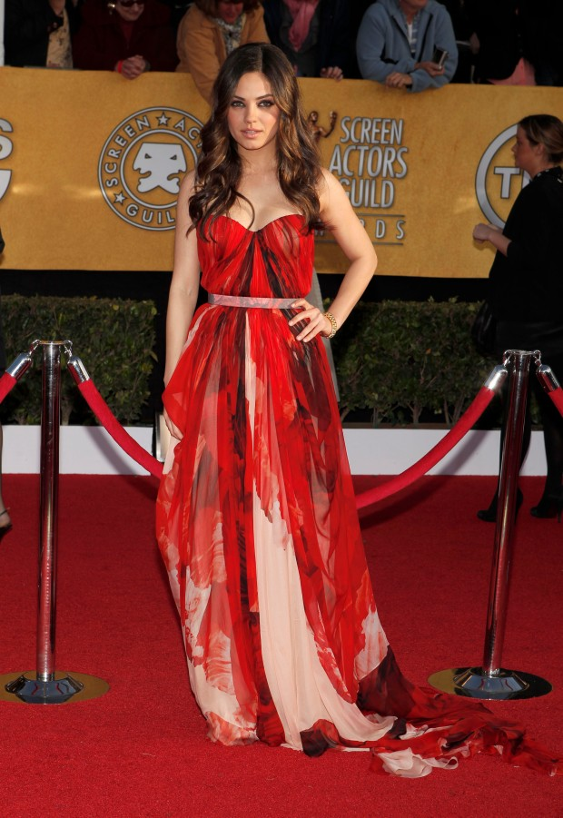 Actress Mila Kunis arrives at the TNT/TBS broadcast of the 17th Annual Screen Actors Guild Awards held at The Shrine Auditorium on January 30, 2011 in Los Angeles, California. 20823_003_CP_0547.JPG