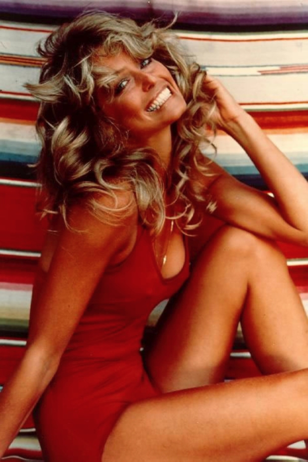 Farrah Fawcett, one of the original Angels, was a staple on every boy's bedroom wall.