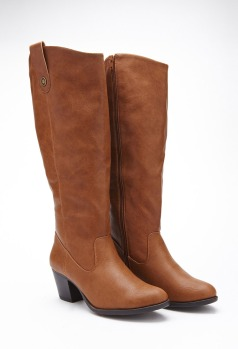 Forever21 Faux Leather Boots $44.80